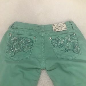 Miss Me JP5473S4 Peppermint Green Women's Jeans 31
